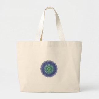 Chill Mandala Design Large Tote Bag