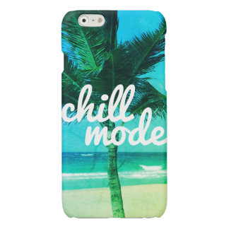 Chill Mode Blue & Green Beach Scene iPhone 6 Case