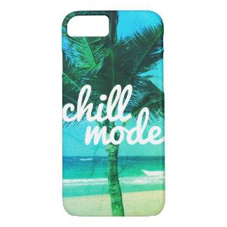 Chill Mode Blue & Green Beach Scene iPhone 7 Case