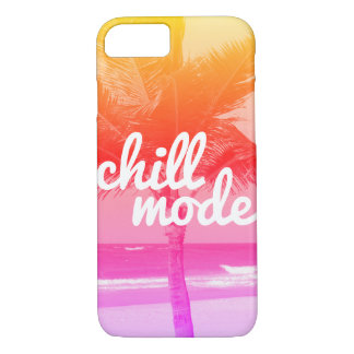 Chill Mode Pink & Orange Beach Scene iPhone 7 Case