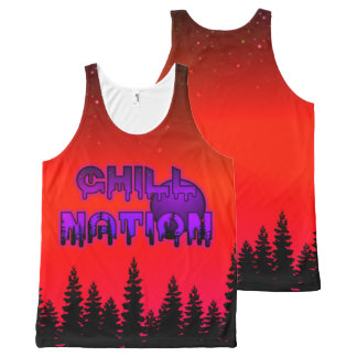 Chill Nation Red Tank Top
