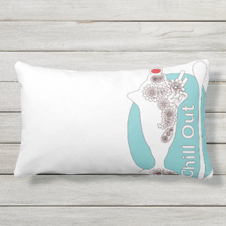 Chill Out - Original Paisley Ice Cream Sundae Cute Outdoor Pillow