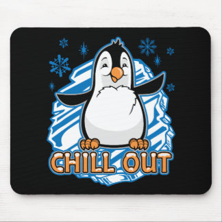 Chill Out Penguin Mouse Pad