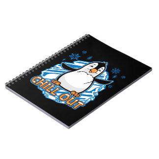 Chill Out Penguin Spiral Notebook