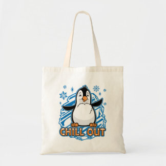 Chill Out Penguin Tote Bag