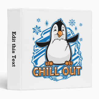 Chill Out Penguin Vinyl Binders