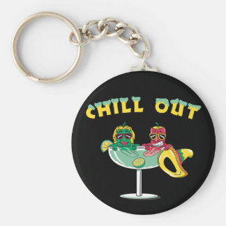 Chill Out Peppers Keychain