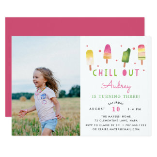 Chill Out | Photo Birthday Party Invitation