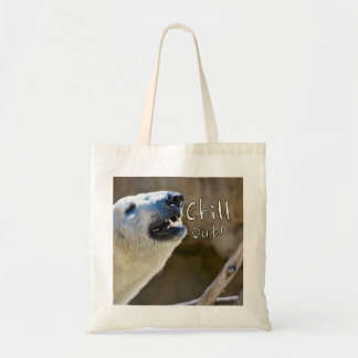 Chill out! polar bear tote bag