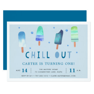 Chill Out | Popsicle Birthday Party Invitation