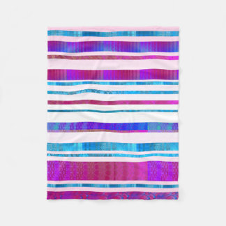 Chill Out Stripy Fleece Blanket