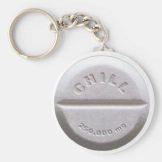 Chill Pill Basic Round Button Keychain