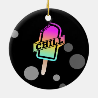 CHILL ROUND CERAMIC ORNAMENT