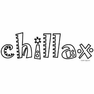 Chillax Acrylic Desktop Sculpture Standing Photo Sculpture