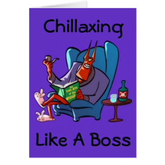Chillaxing The Devil Relaxing Greeting Card