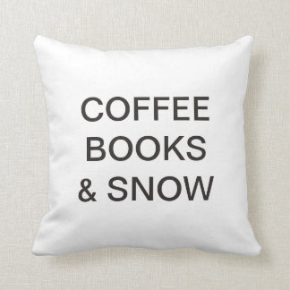 Chilled Christmas COFFEE, BOOKS & SNOW modern Throw Pillow
