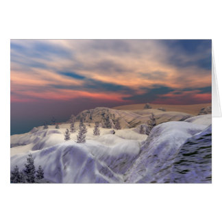 Chilled Christmas Hills Card