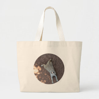 Chilled Meerkat Large Tote Bag