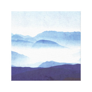 Chilled Mountain Skyline Minimalist Art Canvas Print