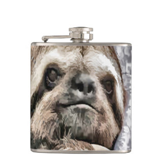 Chilled Sloth Hip Flask