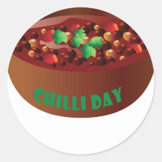 Chilli Day - Appreciation Day Classic Round Sticker