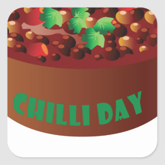 Chilli Day - Appreciation Day Square Sticker