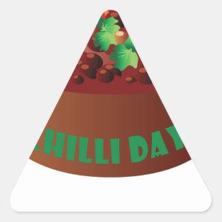 Chilli Day - Appreciation Day Triangle Sticker