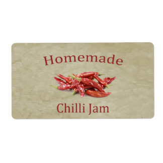 Chilli Jam Shipping Label