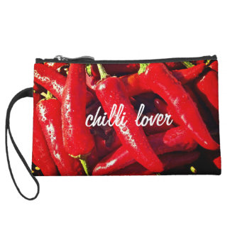 Chilli Lover, Red Chilli, Hot design Wristlet Purses