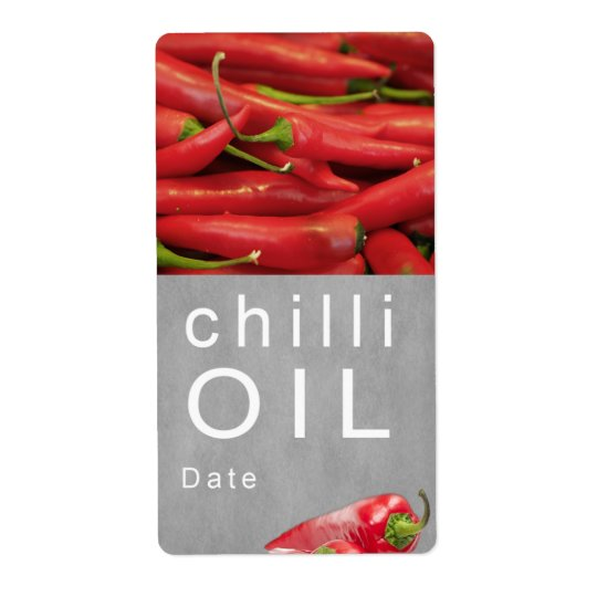 Chilli oil shipping label