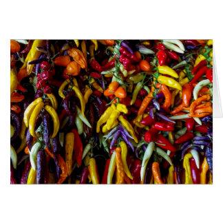 Chilli Pepper Card