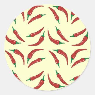 chilli pepper, cookery round sticker