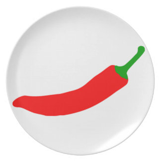 Chilli Pepper Party Plate