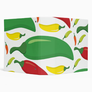 Chilli pepper pattern 3 ring binder