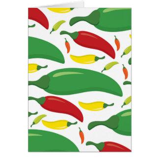 Chilli pepper pattern card