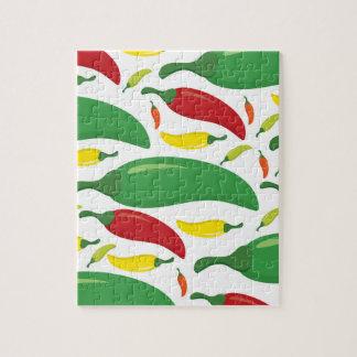 Chilli pepper pattern jigsaw puzzle