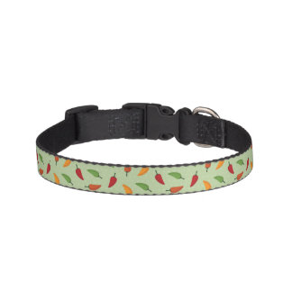 Chilli pepper pattern pet collar
