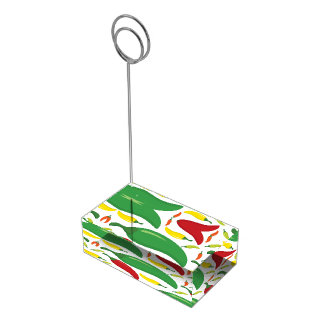 Chilli pepper pattern table card holder