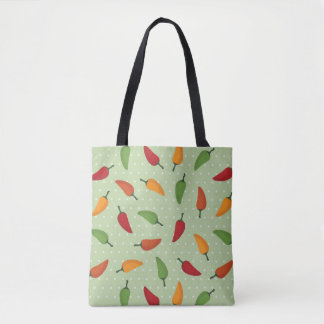 Chilli pepper pattern tote bag