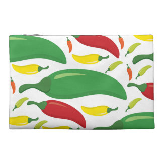 Chilli pepper pattern travel accessory bag