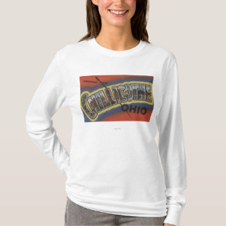 Chillicothe, Ohio - Large Letter Scenes T-Shirt