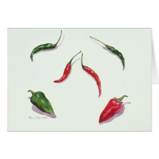 Chillies and Peppers 2005 Card
