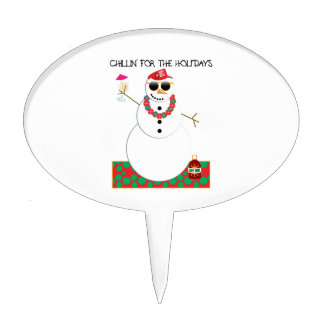Chillin For The Holidays Cake Topper