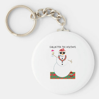 Chillin For The Holidays Keychains