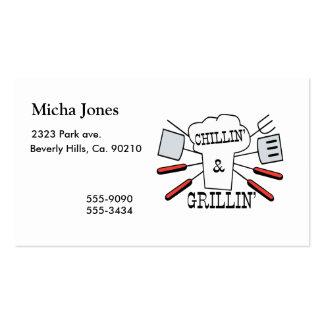 Chillin & Grillin BBQ Fun Business Card