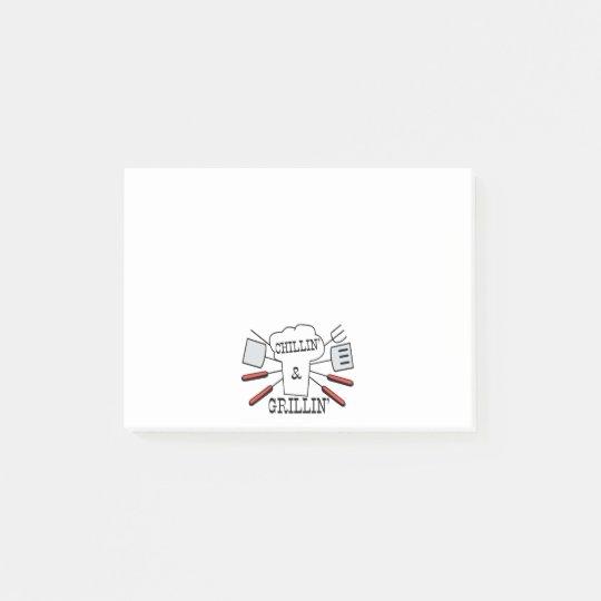 Chillin & Grillin BBQ Fun Post-it Notes