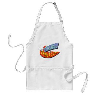 chillin' & grillin' standard apron