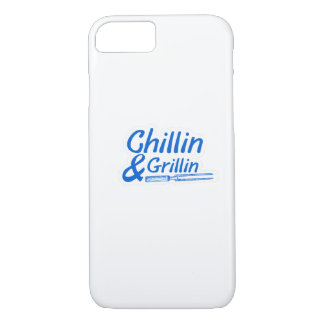 Chillin & Grillin Summer BBQ Holidays Party Family iPhone 8/7 Case