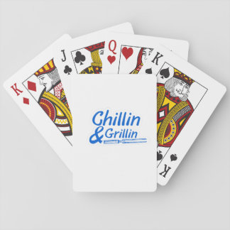 Chillin & Grillin Summer BBQ Holidays Party Family Playing Cards