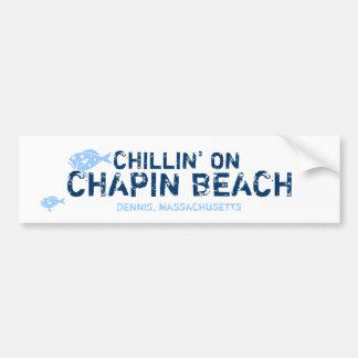CHILLIN' ON, CHAPIN BEACH, DENNIS, MA Bumper Stick Bumper Sticker